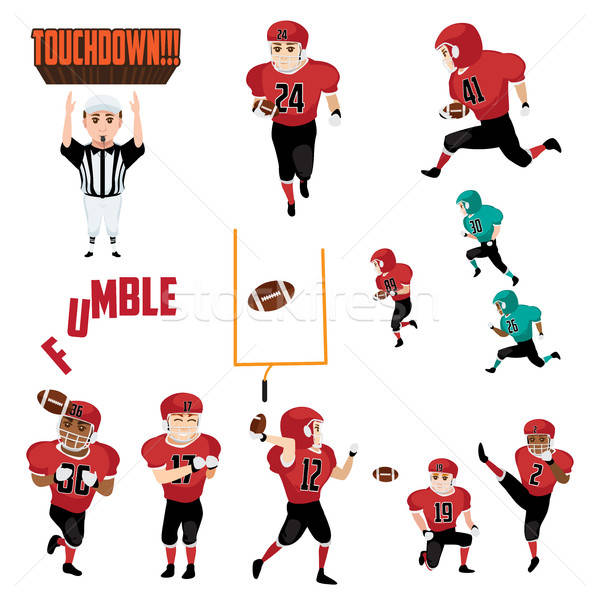 American Football Icons Cliparts Design Elements Stock photo © artisticco
