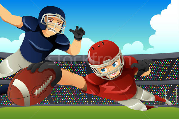 American Football Players Playing Football in a Stadium Stock photo © artisticco