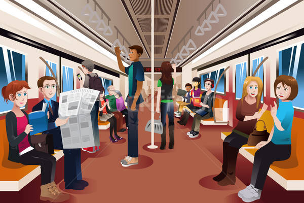 Different people inside crowded subway Stock photo © artisticco