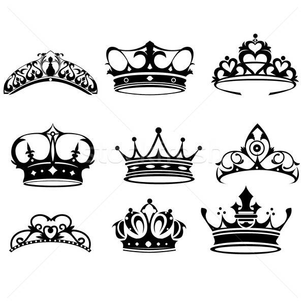 Crown icons Stock photo © artisticco