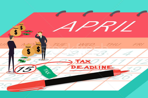Tax Deadline Concept Stock photo © artisticco
