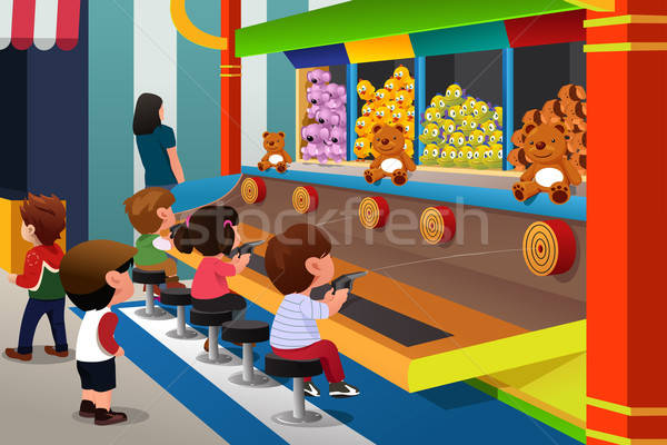 Kids Playing in Carnival Games Stock photo © artisticco