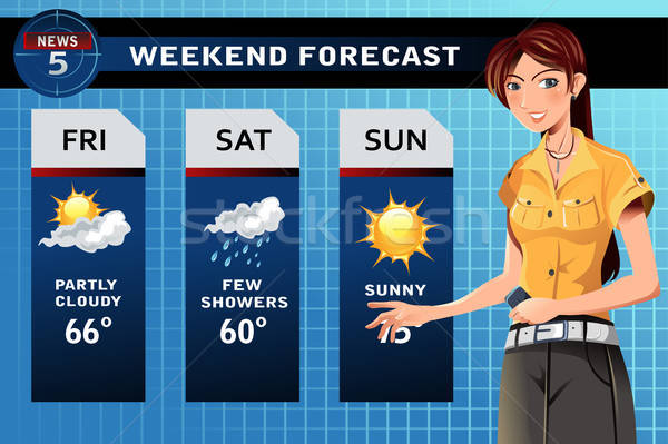 Weather reporter Stock photo © artisticco