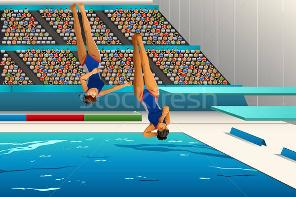 Diving competition Stock photo © artisticco