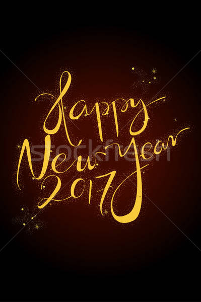 新年 賀卡 節日 現代 旗幟 慶祝 商業照片 © artisticco