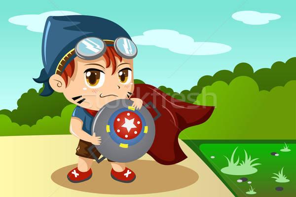 Boy in superhero costume Stock photo © artisticco