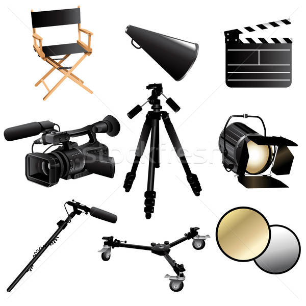 Filming movie icons Stock photo © artisticco