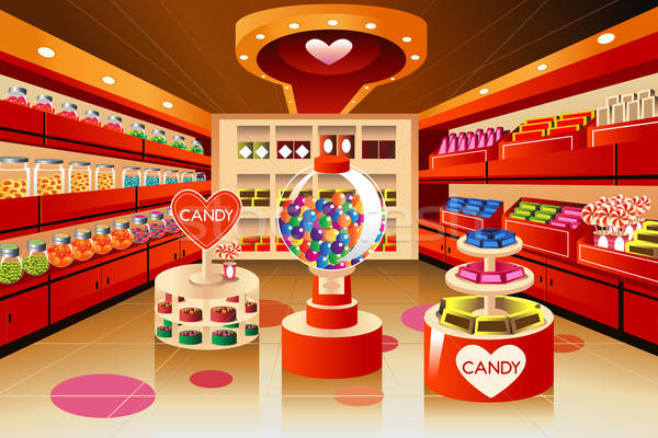 Grocery store: candy section Stock photo © artisticco