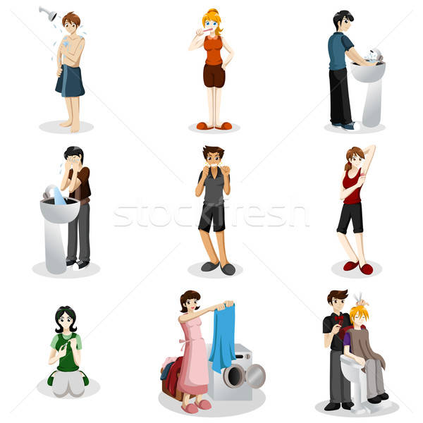 Hygienic people Stock photo © artisticco