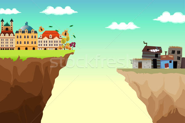 Conceptual Illustration of Gap Between Rich and Poor Stock photo © artisticco