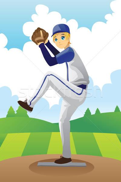 Baseball player Stock photo © artisticco