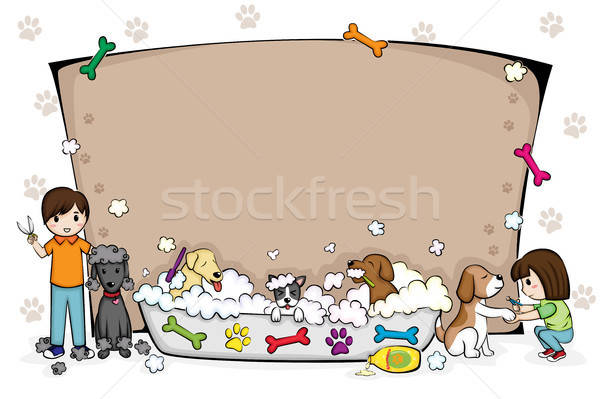 Pets grooming salon banner Stock photo © artisticco