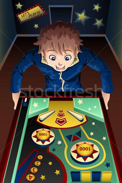 человека играет машина счастливым ребенка весело Сток-фото © artisticco
