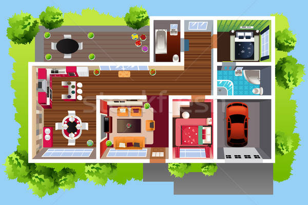 House Architecture Viewed From Above Stock photo © artisticco