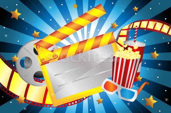 Film luminos film fundal industrie desen Imagine de stoc © artisticco