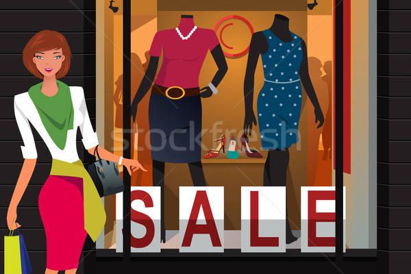 Kız alışveriş merkezi güzel kız kadın alışveriş Stok fotoğraf © artisticco