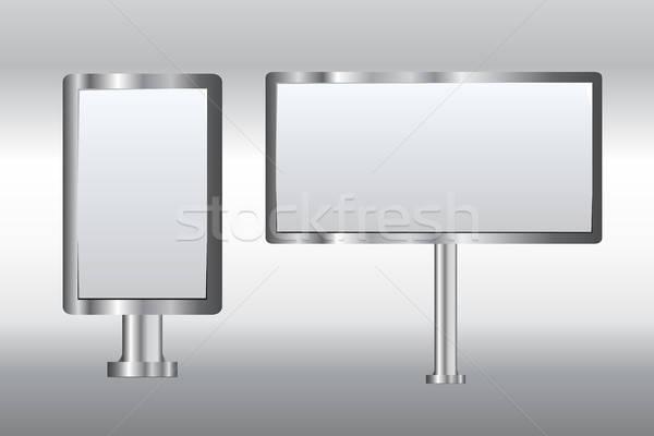 бюллетень пару рекламные щиты кадр пространстве связи Сток-фото © artisticco