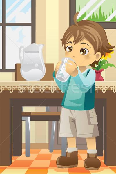 мальчика питьевая вода здоровья Kid молодые молодежи Сток-фото © artisticco