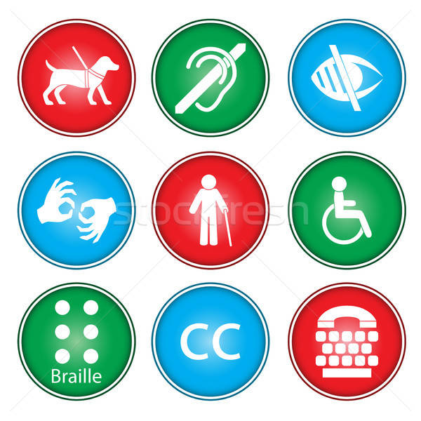 Accessibility icons Stock photo © artisticco