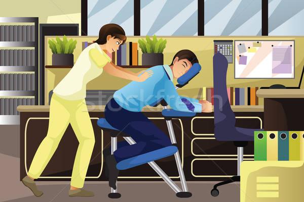 массаж терапевт рабочих клиент служба Председатель Сток-фото © artisticco