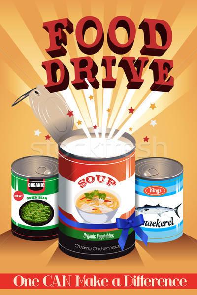 Food Drive Poster Stock photo © artisticco
