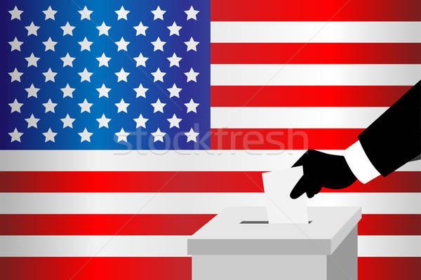 Hombre votación cuadro mano escrito Foto stock © artisticco