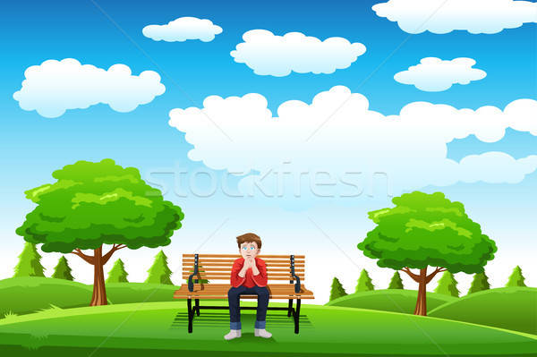 Man sitting on the bench Stock photo © artisticco