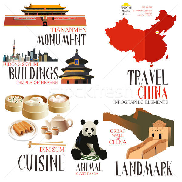 Infographic elements for traveling to China Stock photo © artisticco