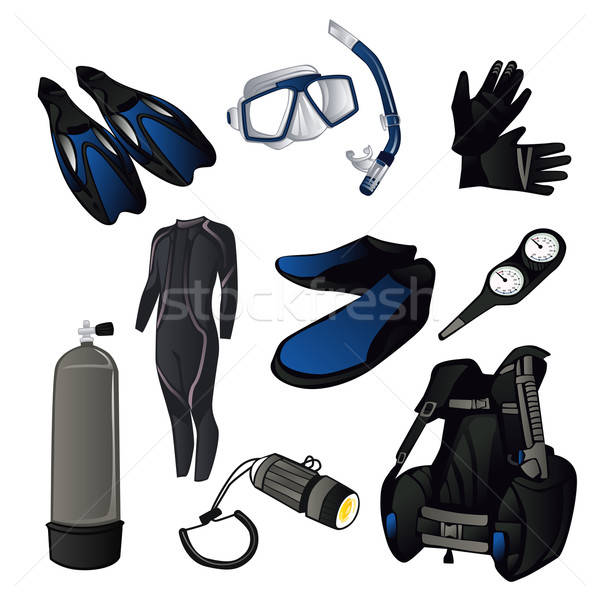 Scuba diving icons Stock photo © artisticco