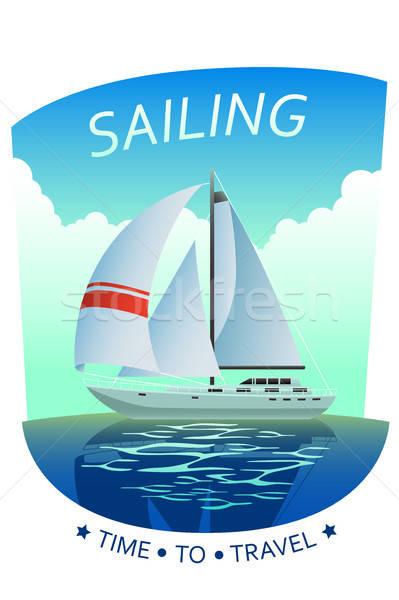 żeglarstwo plakat ilustracja morza lata ocean Zdjęcia stock © artisticco