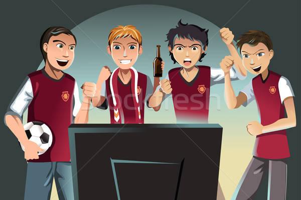 Soccer fans Stock photo © artisticco