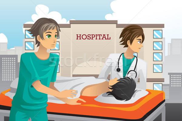 работу больницу медицинской здоровья медсестры Сток-фото © artisticco
