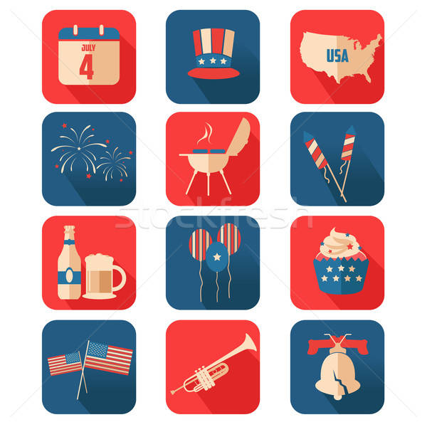 Negyedik ikonok nap ikon sör térkép Stock fotó © artisticco