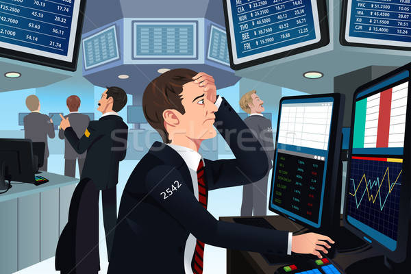 Stock trader in stress Stock photo © artisticco