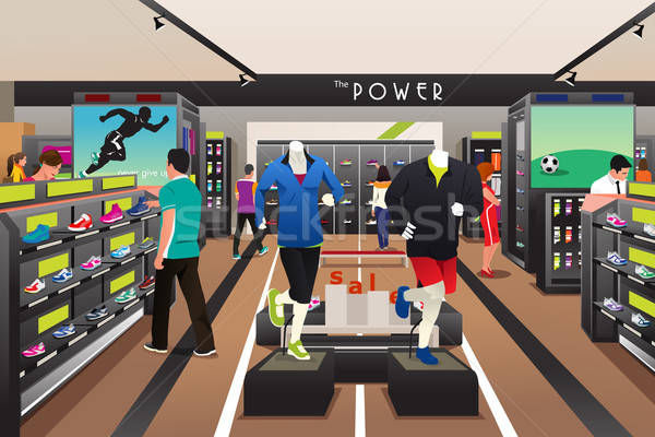 People Shopping for Shoes in a Sporting Store Stock photo © artisticco