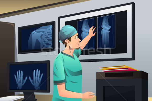 врач глядя Xray человека больницу работу Сток-фото © artisticco