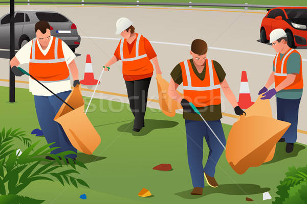Community Cleaning on the Roadside Stock photo © artisticco
