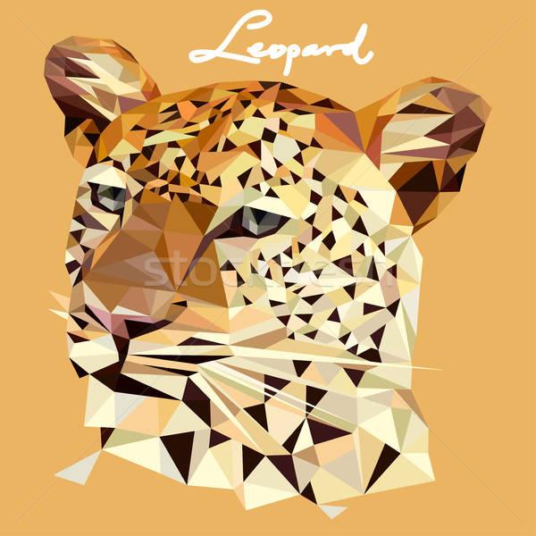 Leopardo ilustração mosaico estilo desenho Foto stock © artisticco