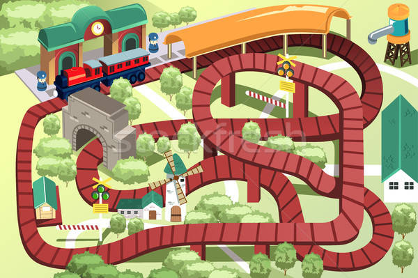 Miniatura giocattolo treno brano modello Foto d'archivio © artisticco