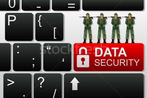 Segurança de dados internet segurança rede teia software Foto stock © artisticco