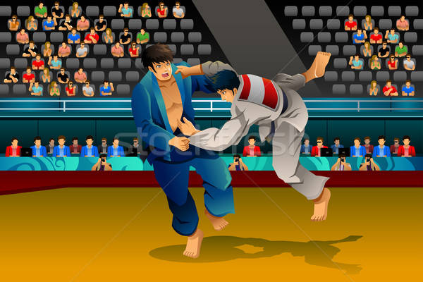 Erkekler judo rekabet adam sağlık kavga Stok fotoğraf © artisticco