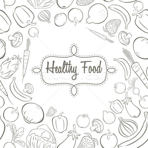 商业照片: 健康食品 · 海报 · 设计 · 黑白 · 水果 · 黑色和白色