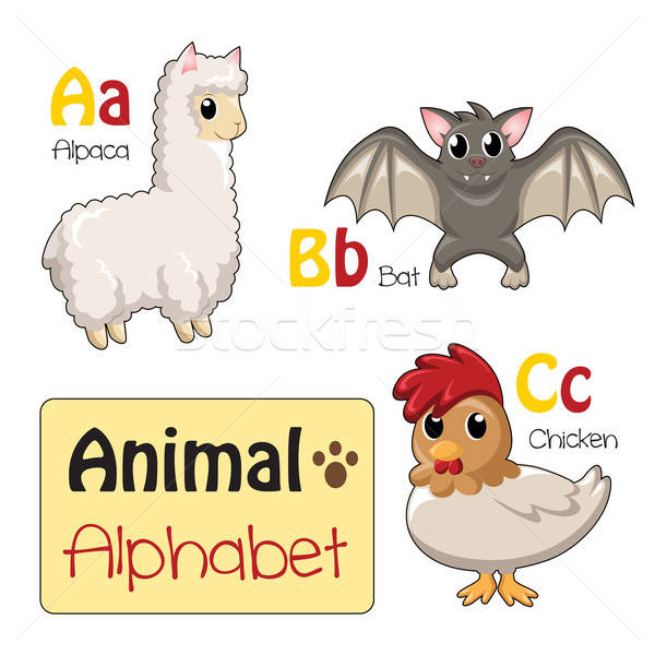 Alphabet animals from A to C Stock photo © artisticco