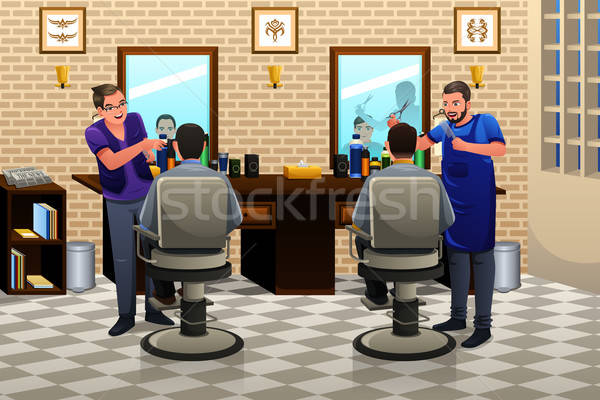 People Having Haircut Stock photo © artisticco
