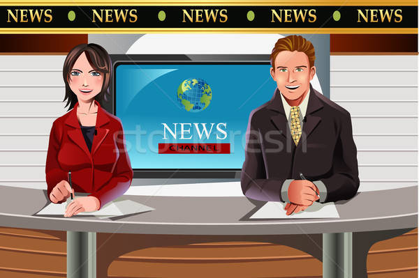 TV news anchors Stock photo © artisticco