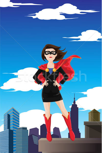 Superhero businesswoman Stock photo © artisticco