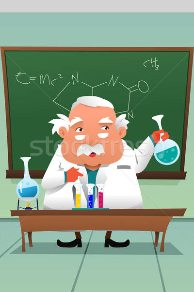 Chemistry professor working at the lab Stock photo © artisticco