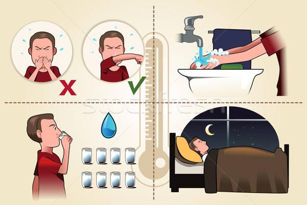 Flu pamphlet Stock photo © artisticco