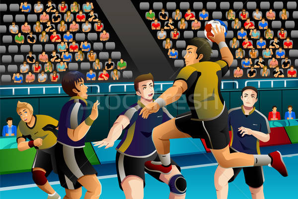 People Playing Handball in the Competition Stock photo © artisticco