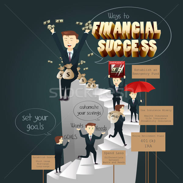 Infographic of Ways to Financial Success Stock photo © artisticco